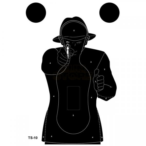Range Solutions TS-10 Frenchman Practice Target 50pcs