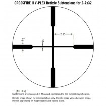 VORTEX Crossfire II 2-7x32 Rimfire Riflescope V-Plex Reticle - MOA 5